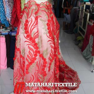 3D Red Rose Tulle