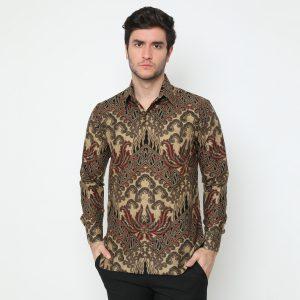 Jayabaya Batik Narasoma II Kemeja Batik Pria Lengan Panjang