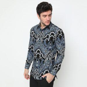 Jayabaya Batik Narasoma Kemeja Batik Lengan Panjang Pria