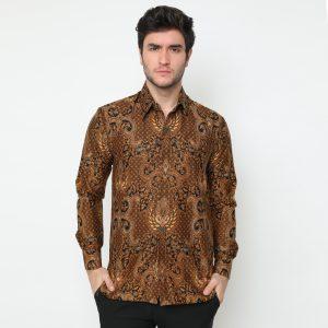 Jayabaya Batik Waranggana Kemeja Batik Pria Lengan Panjang
