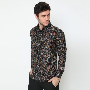 Jayabaya Batik Wiyasa Kemeja Batik Pria Lengan Panjang