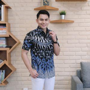 Jayabaya Batik Agni Kemeja Batik Pria Lengan Pendek