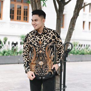 Jayabaya Batik Anjasmara Kemeja Batik Pria Lengan Panjang