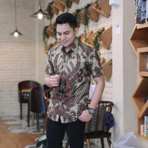 Jayabaya Batik Arga III Kemeja Batik Pria Lengan Pendek
