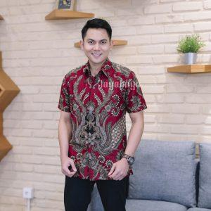 Jayabaya Batik Arga Kemeja Batik Pria Lengan Pendek