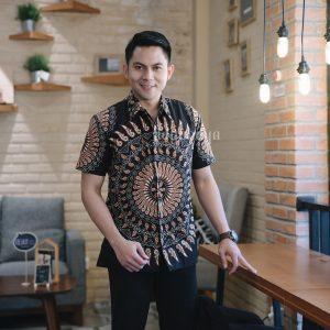 Jayabaya Batik Bima Kemeja Batik Pria Lengan Pendek