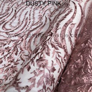 Embroidery Tulle 1124-(DUSTY PINK)