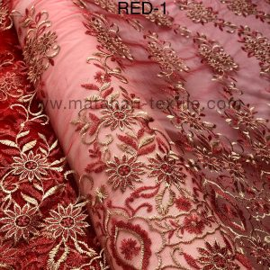 Embroidery Tulle MTHR15-1(RED)