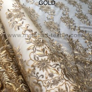 Embroidery Tulle MTHR15-GOLD
