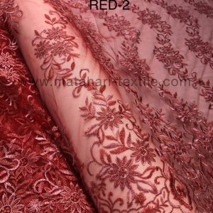 Embroidery Tulle MTHR15-RED-2