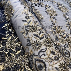 Embroidery Tulle MTHR15-NAVY