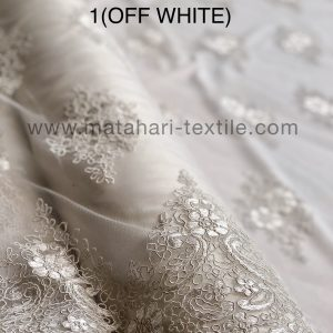 Embroidery Tulle MTHR19-1(OFFWHITE)