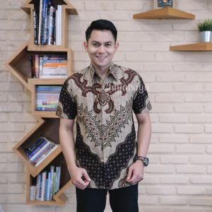 Jayabaya Batik KAMA III Kemeja Batik Pria Lengan Pendek