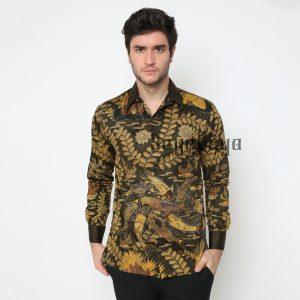 Jayabaya Batik Ranu Kemeja Batik Pria Lengan Panjang
