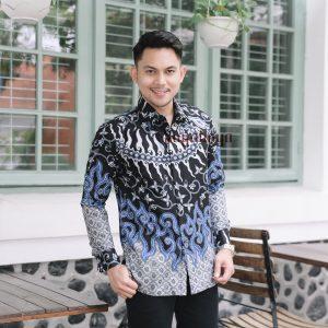 Jayabaya Batik Agni Kemeja Batik Pria Lengan Panjang