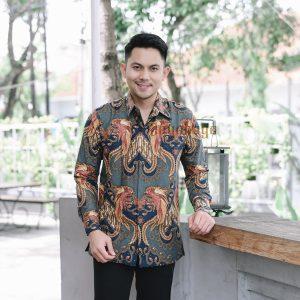 Jayabaya Batik Arindra Kemeja Batik Pria Lengan Panjang