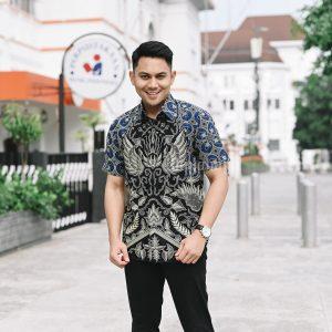 Jayabaya Batik Gurdho Kemeja Batik Pria Lengan Pendek