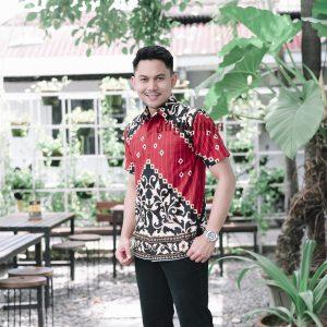 Jayabaya Batik Karna Kemeja Batik Pria Lengan Pendek