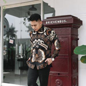 Jayabaya Batik Mahasura Kemeja Batik Pria Lengan Panjang