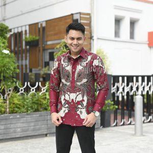 Jayabaya Batik Mahesa Kemeja Batik Pria Lengan Panjang