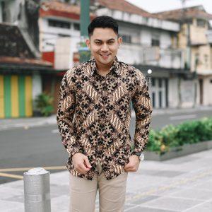 Jayabaya Batik Sadhana Kemeja Batik Pria Lengan Panjang