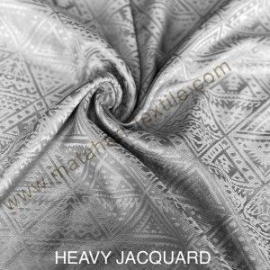 HEAVY JACQUARD SILK-SILVER