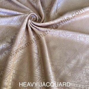 HEAVY JACQUARD SILK-BEIGE