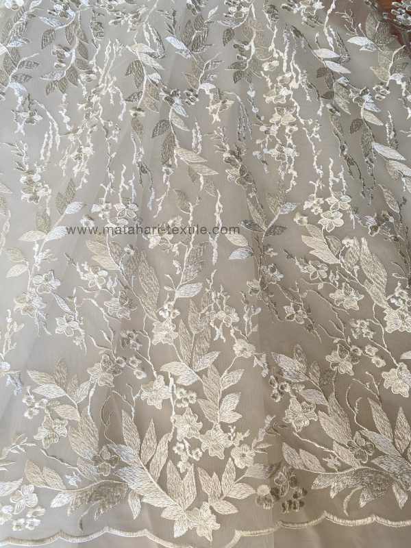 Embroidery Tulle ZUHAIR 04 - OFFWHITE