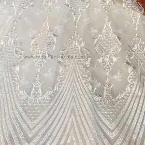 Embroidery Tulle ZUHAIR 02 - OFFWHITE