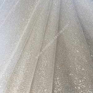 Embroidery Tulle FULL CLEAR SPANGLE - OFFWHITE