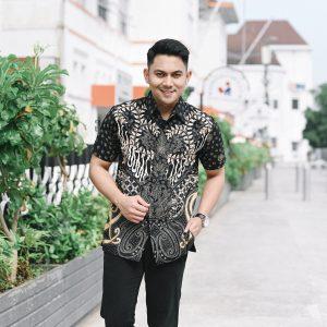 Jayabaya Batik Jayanegara Kemeja Batik Pria Lengan Pendek