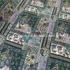 Screen Printed Rayon Viscose 9307 - Green