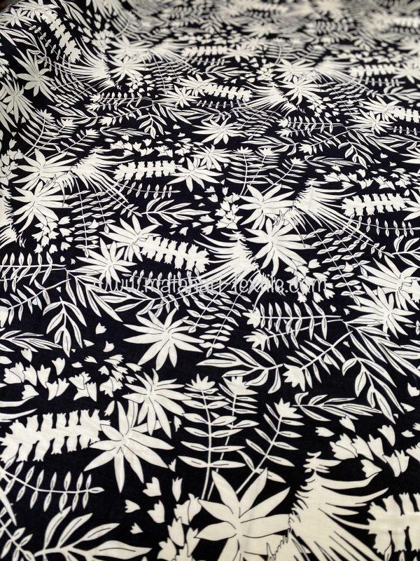 Screen Printed Rayon Viscose 2782 - Black