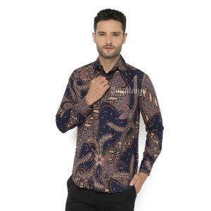 Jayabaya Batik Kertajaya Kemeja Batik Pria Lengan Panjang