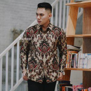 Jayabaya Batik Narasimha Kemeja Batik Pria Lengan Panjang