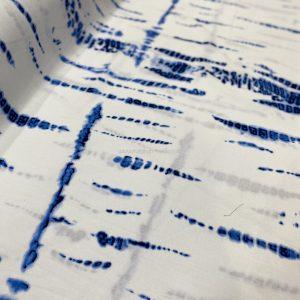 Screen Printed  RAYON Tie Dye 0669 - Biru