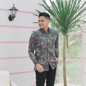 Jayabaya Batik Mandaka Kemeja Batik Pria Lengan Panjang