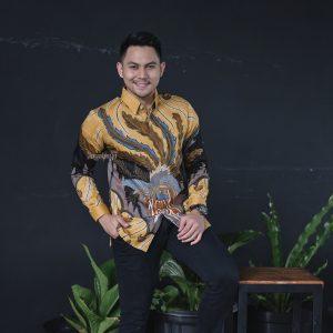 Jayabaya Batik Sakala Kemeja Batik Pria Lengan Panjang