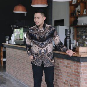 Jayabaya Batik SANJAYA Kemeja Batik Pria Lengan Panjang