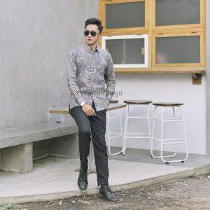 Jayabaya Batik Azka Kemeja Batik Pria Lengan Panjang